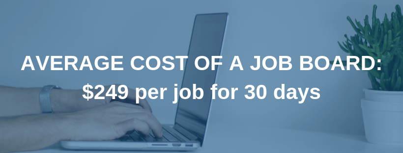Average Cost of a Job Board