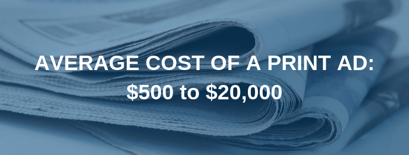 Average Cost of Print Ads