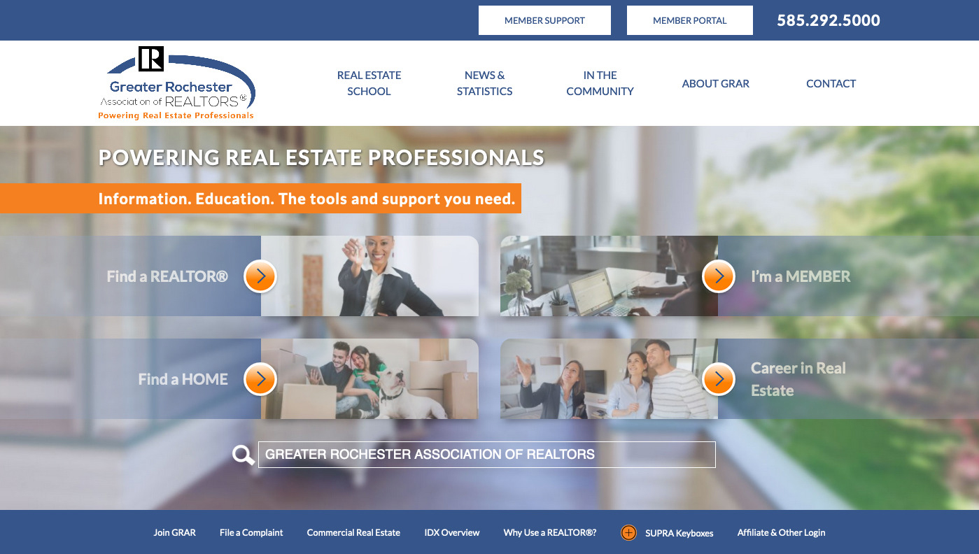 Greater Rochester Association of Realtors homepage